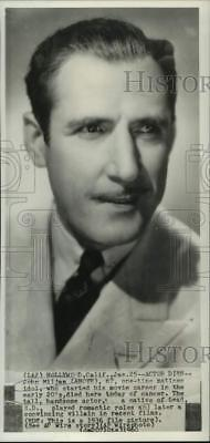 1936 Press Photo Actor John Mijan played romantic and villian roles - now23227