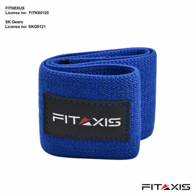 BOOTY BUILDER PREMIUM Glute Activation Band   Blue Fabric Pro Hip Resistance
