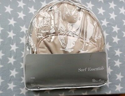 Silver Cross Surf Surf 2 Hood Apron Sand Colour Pack For Pram or Carrycot in Bag