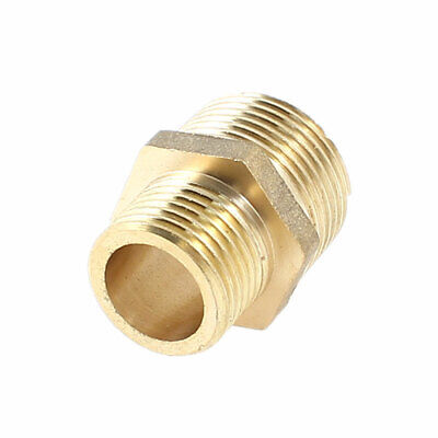 Brass 3/4PT Male to 1/2PT Male Thread Pipe Hex Reducing Bushing Adapter