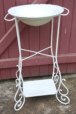 French Washstand Wash Basin Stand Vanity Bath Hand Wrought Iron 19th C