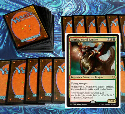 MTG RED GREEN GRUUL ATARKA COMMANDER EDH DECK Magic the Gathering 100 cards