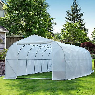 26'x10'x7' Large Walk-In Greenhouse Tunnel Garden Plant Steel Frame Hot House