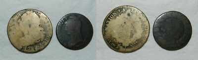 France : 2 Old Coins Of The French Revolution
