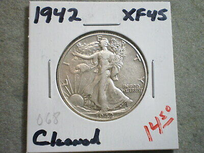 1942 Walking Liberty Half Dollar/ Cool Coin/ Cleaned