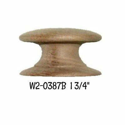 "WALNUT Wood Grain Round Knob with Wide Base - 1-3/4"" Empire Antique Vintage Old"