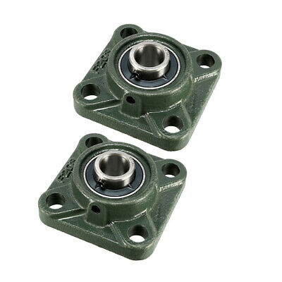 UCF203 Square Flanged Pillow Block Bearing, 17mm Bore Diameter, Cast Iron 2Pcs