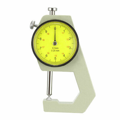 Thickness Gauge,0-20mmx0.1mm Cusp Head Dial Thickness Gauge Measuring Instrument