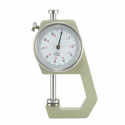 Thickness Gauge 0-20mmX0.1mm Range Flat Anvil Round Dial Indicator Thick Gauge