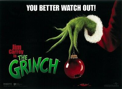 The Grinch movie poster - Jim Carrey - 12 x 16 inches (advance) - Dr Seuss