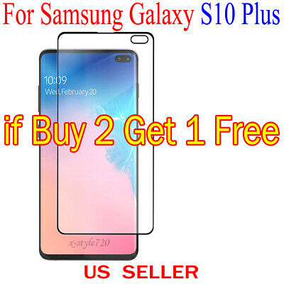 Full Cover Curved Clear Screen Protector Guard Film For Samsung Galaxy S10 Plus