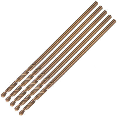 5pcs 1mm Twist Drill w Titanium Coated High Speed Steel Bit HSS M35 CO for Steel