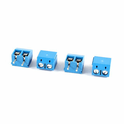 4 Pcs 2 Pole 5mm Pitch Pluggable Screw Terminal Block PCB Connector 16A