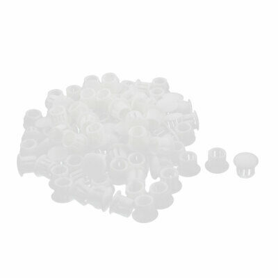 100Pcs SKT-10 Insulated Plastic Snap in Locking Hole Cover Fastener 9.5mm Dia
