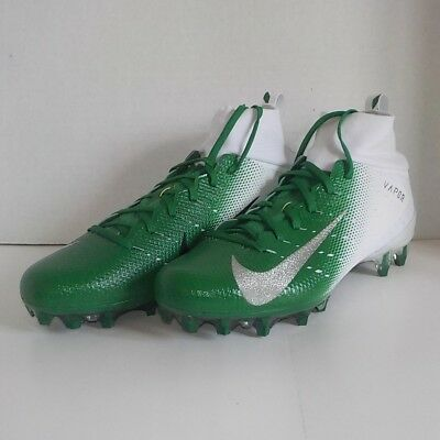 ce1399f8ec49 Nike VAPOR UNTOUCHABLE PRO 3 Football Cleat WHITE GREEN 917165 103 Men Size  11