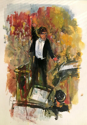 Boston Symphony Conductor 20x30 in. Acrylic on panel  Hall Groat Sr.