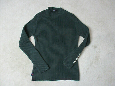 VINTAGE Ralph Lauren Polo Jeans Sweater Adult Extra Large Green Mens 90s
