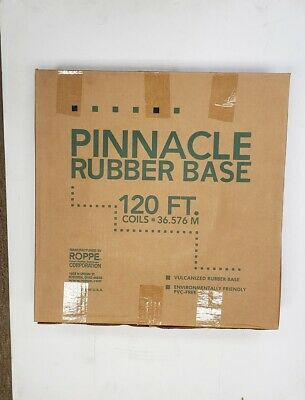 "Roppe Pinnacle Rubber Wall No Toe Cove Base 4""X1/8""X120' Coil Lunar Dust NEW 120"