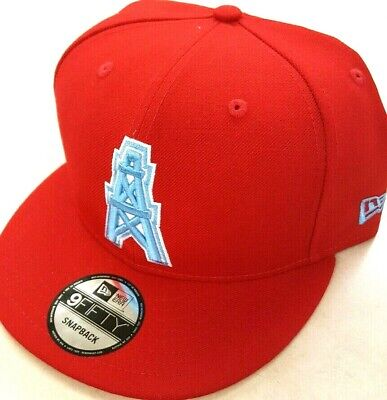 c96d051937249 Houston Oilers Historic Logo Basic Nfl New Era 9 Fifty Snapback Hat Cap Red