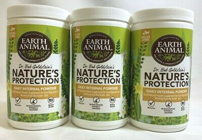 3 NEW - Earth Animal Nature's Protection POWDER Dog Cat Puppies Kittens 1lb each
