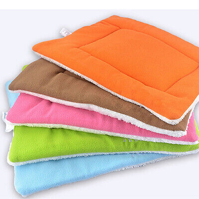 Pet Dog Cat Mat Washable Fleece Blanket Bed Cushion Kennel Cage Pad Cushion HOT