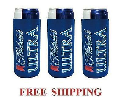Michelob Ultra Slim Can 3 Cooler Coozie Coolie Koozie Huggie New Bud Budweiser