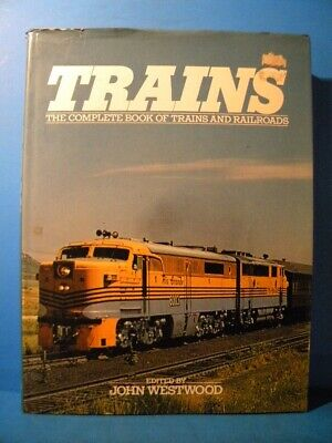 Trains The Complete Book of Trains and Railroads Dust Jacket