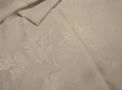 76 by 70 Vintage Damask Tablecloth Tulips Maidenhair Fern Lovely for Holiday