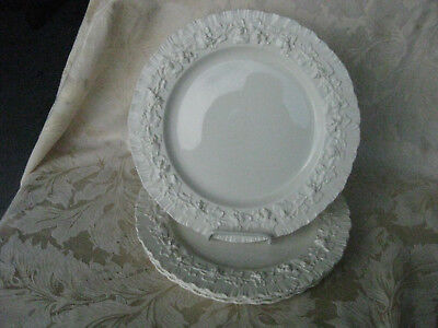 Beautiful Set of 4 Wedgewood Queensware Cream on Cream Shell Edge Dinner Plates