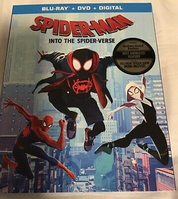 Spider-Man Into The Spider-Verse BLU-RAY/DVD/DIGITAL , Brand New With Slipcover