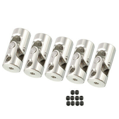 5PCS 2mm to 2mm Rotatable Universal Steering Shaft U Joint Coupler L18XD8