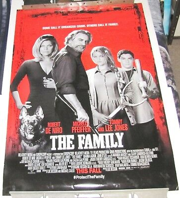 "2013--The Family--2 Sided--Movie Theater Poster--40""X27""--Robert De Niro"