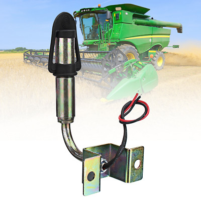 12V DIN Flashing Rotating Amber Beacon Light Mount Mounting Pole / Stem Tractor