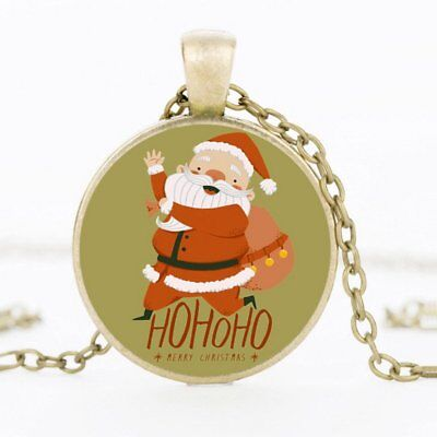 Christmas Xmas Naughty Santa Claus Pendant Necklace Children Jewelry Party Gift