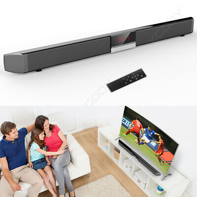 "34"" 40W Bluetooth Soundbar Home TV Speaker Sound Bar Wireless Coaxial Optical"