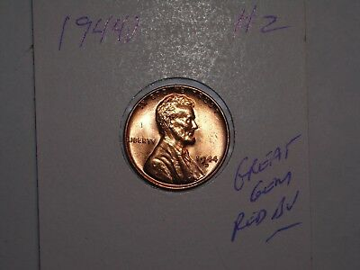 wheat penny 1944D LINCOLN CENT 1944-D GEM RED BU LOT #2 SHARP UNC RED LUSTER