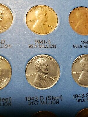 1944 PDS Lincoln Wheat Cents + 1943 Steel Penny - Rare Vintage Coins