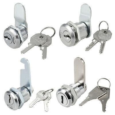 16mm/20mm Cylinder Zinc Alloy Chrome Finished Cam Lock, Keyed Alike/Different