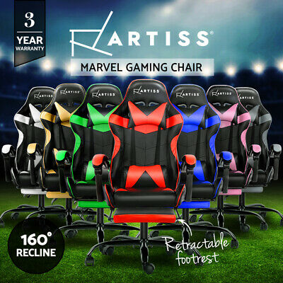 Artiss Gaming Office Chairs Computer Desk Seating Racing Recliner Racer Footrest