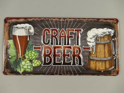 G3897: Nostalgia Letrero de Metal, Craft Cerveza, Pubs Cartel de Pared 15x30