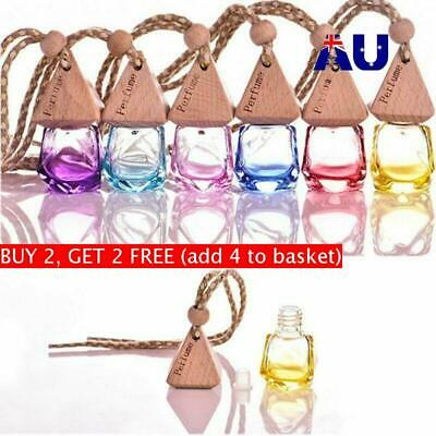 Air Freshener Car Hanging Diffuser Empty Glass Perfume Fragrance Bottle Gift AU