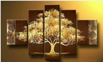 5 Pieces Large Modern Abstract Art Oil Painting Wall Decor Canvas( NO Frame)