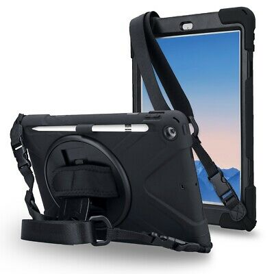 iPad 5th/ 6th Gen Case with Pencil Holder Strap Three Layer Drop Resistant Case
