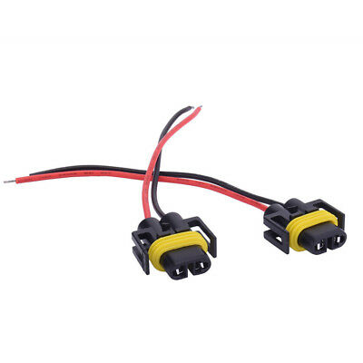 11.5cm  TJs 2x H11//H8 Cable Extension Wire Wiring Connector Adapter Harness