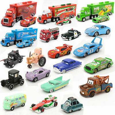 Disney Mattel Pixar Cars Mater Tractor King Sally Lightning Mcqueen Kid Toy Gift