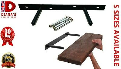Heavy Duty Floating Shelf Brackets With 'BACK ROD Support' Invisible/ Concealed