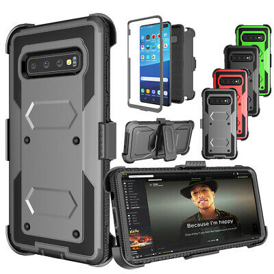 For Samsung galaxy s10/s10 +/s10 e Heavy Defender Protective Case W/Clip Holster