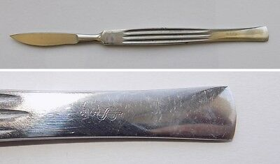 Vintage medical surgical tool scalpel, perfect condition,Maker Aesculap