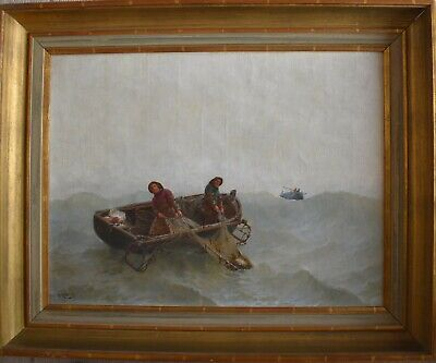 Georges Jean Marie HAQUETTE (1854-1906) Marine Oil Painting.