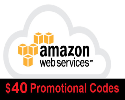 $40 AWS Amazon Web Services Credit Code